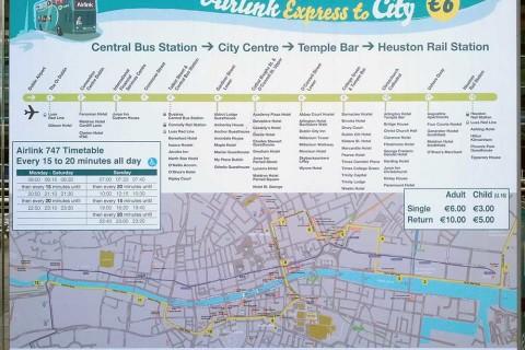 Autobuses del aeropuerto de Dublín al centro u otras ciudades irlandesas