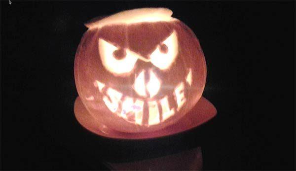 Halloween en Dublin con calabaza maligna